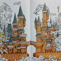 Finally finished the castle.  #imagimorphia #kerbyrosanes #animorphia #doodlemorphia #colouringforadults #coloring #colouring #coloringforadults #art #ilovecolouringin #ilovecolouring #colouringfun#pablo #fabercastell #polychromos #coloring #pencils #wellbeing #doodle #carand'ache
