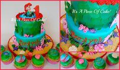 Little Mermaid Birthday Cake for #FondantFriday