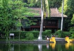 Located in the campus of the Presidential Palace, Ba Dinh district, Hanoi. http://hanoicity.blogspot.com/2013/06/uncle-hos-stilt-house_22.html