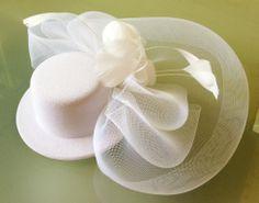 Vintage fascinator mini-sombrero con jaula velopluma tocado de fiesta complementos para la cabeza fija con pinzas para el cabello de color 3...