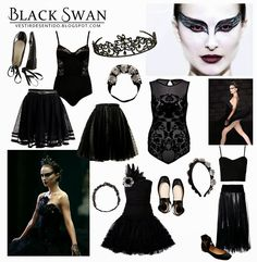diy halloween costume black swan