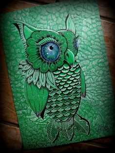 Owl - Artwork by Paula Wawrzynek.