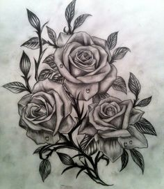 3D Rose Tattoo Designs