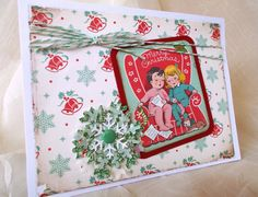 1950's Style Christmas Card With A Vintage Feel... October Afternoon