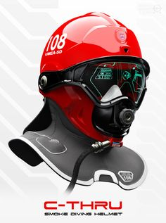 Funny pictures about Future firefighter helmet. Oh, and cool pics about Future firefighter helmet. Also, Future firefighter helmet. Wearable Technology, Technology Gadgets, Tech Gadgets, Cool Gadgets, Science And Technology, Futuristic Technology, Diving Helmet, Helmet Design, Search And Rescue
