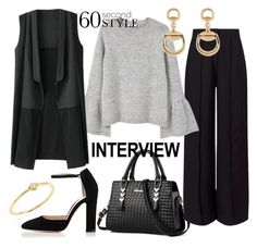 60-Second Style: Job Interview by miss-valeria on Polyvore featuring polyvore fashion style MANGO Miss Selfridge Gianvito Rossi Sydney Evan Gucci clothing jobinterview 60secondstyle