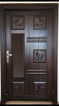 Interior Modern, Home Interior Design, Door Design Photos, Modern Exterior Doors, Wooden Main Door Design, Indian Homes, Diy Kitchen Storage, Teak Wood, Wood Doors