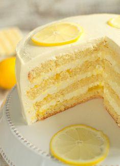 Tort cytrynowy Cookie Cake Pie, Dream Cake, Yummy Cakes, Vanilla Cake, Cupcake Cakes, Cupcakes, Sweet Recipes, Cheesecake, Good Food