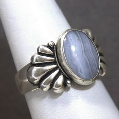 Sterling Silver Blue Lace Agate Fashion Ring by Carolyn Pollack