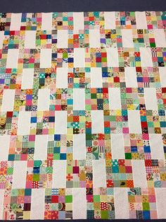 : Scrappy Stepping Stones - with tutorial A fun scrappy quilt! Scrappy Sandwiches here My Small World s. Scraps and a Favorite Color Make a Lovely Quilt - Quilting Digest I started cutting out squares from my scraps about e. Scrappy quilt squares in 16 pa Colchas Quilting, Patchwork Quilt Patterns, Quilt Block Patterns, Quilt Blocks, Quilting Projects, Sewing Projects, Canvas Patterns, Jellyroll Quilts, Scrappy Quilts
