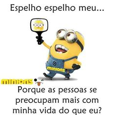 ##kkkk... Cute Minions, Funny Memes, Jokes, Special Quotes, Funny Messages, Try Not To Laugh, Minions Quotes, Funny Love, Just Kidding