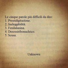 Parole difficili