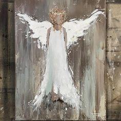 Original Artwork by Anita Felix Urbane Kunst, Creation Art, Angels Among Us, Angel Art, Pictures To Paint, Christmas Art, Painting Inspiration, Wood Art, Painted Rocks