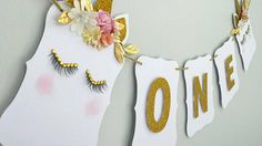 Check out this item in my Etsy shop https://www.etsy.com/ca/listing/542511496/one-birthday-banner-unicorn-theme
