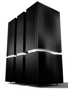 Le Naim Statement est composé de deux amplificateurs de puissance mono NAP S1 et un préamplificateur NAC S1. H=94 cm P= 263 kg (61,5 kg pour le préampli, et 101 kg par bloc de puissance). 130 000 £.