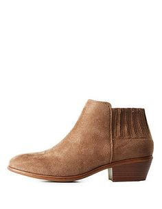 Stacked Heel Ankle Booties: Charlotte Russe