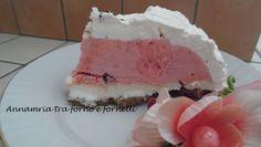 Torta gelato fragola, fiordilatte e panna- Annamaria tra forno e fornelli
