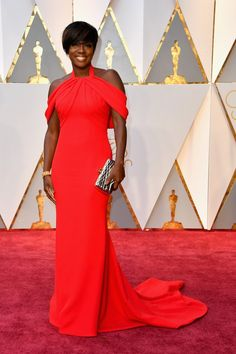See All The Oscars 2017 Red Carpet Dresses and Looks. Every Oscars dress from Oscars red carpet 2017 Oscars 2017 Red Carpet, Oscars Red Carpet Dresses, Red Carpet Gowns, Viola Davis, Oscar Dresses, Evening Dresses, Celebrity Red Carpet, Celebrity Style, Oscar 2017