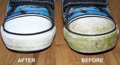 This familiar green stain may seem impossible to remove, but when doing it right, this mess is easy to eliminate from shoes and clothing. Discover a safe and effective way to make kids footwear and jeans look like new, and never worry about outdoor accidents again.