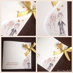 Convite de Casamento, Ilustração Especial feita pela filha do casal!! <3 muito amor envolvido!!!  www.annahoppe.com.br