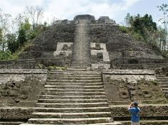 """Lamanai Maya Site  You are welcome to the land of ancient Mayan culture! It was an advanced civilization, excelling in writing, mathematics, and astrology. Lamanai, meaning """"Submerged Crocodile"""", is cradled on the shores of the New River Lagoon and is the largest Mayan ceremonial site in the region."""