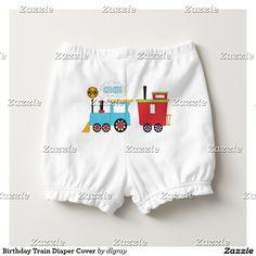 Birthday Train Diaper Cover