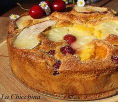La Chicchina: Torta di frutta (dentro e fuori!) Italian Cake, Italian Cookies, Torte Cake, Biscotti, How Sweet Eats, Antipasto, Pound Cake, Sweet Bread, Italian Recipes