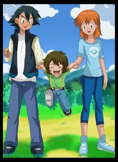 Ash, Misty and their Son