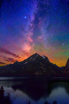 Milky Way Dawn over Jenny Lake & The Grand Tetons ~ Jackson Hole, Wyoming