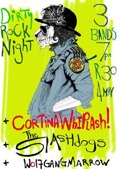 DIRTY ROCK NIGHT poster by wolfgang marrow's Sandy Little