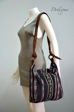 Nepali Messenger Bag for School College Work  Shoulder by Dollypun, $14.98
