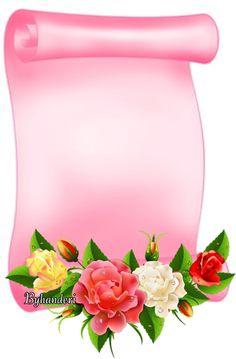 By Artist Unknown. Framed Wallpaper, Flower Background Wallpaper, Flower Backgrounds, Colorful Wallpaper, Paper Background, Holiday Wallpaper, Colorful Backgrounds, Frame Border Design, Boarder Designs