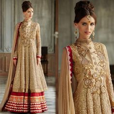 Buy Women\'s Beige Georgette Semi Stitched Suit online, Latest Women\'s Beige Georgette Semi Stitched Suit by Look N Like | latest Salwar Suits Shopping online at Craftsvilla