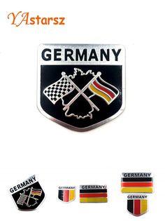[Visit to Buy] 3D Car Trunk Badge Emblem Sticker Metal Aluminum Decal Logo For VW Volkswagen Jetta Passat Golf Polo Skoda Octavia seat audi bmw #Advertisement