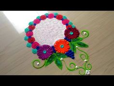 2 minutes unique rangoli designs/beautiful rangoli design by jyoti Rathod - YouTube