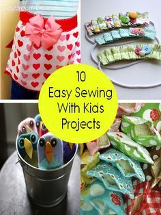 10 Easy Projects for Sewing With Your KidsSO fun! Click through for 10 easy sewing projects for kids (Make these hooded monster towels!)