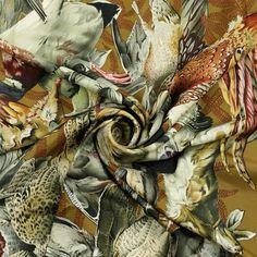 """RARE Auth Hermes Paris """"GIBIERS"""" Vintage Silk Scarf Carre HENRI DE LINARES 90cm"""