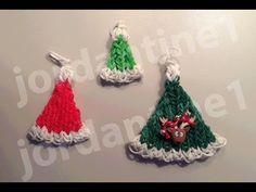 How To Make A Rainbow Loom Christmas Santa Hat Charm - Part 2 - YouTube