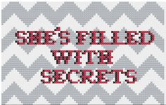 She's Filled With Secrets Twin Peaks Cross Stitch PDF Pattern on Etsy, $3.00