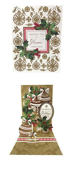 Anna Griffin Christmas Pop Up Card Making Kit… Pop Up Christmas Cards, Christmas Sentiments, Christmas Pops, Pop Up Cards, Vintage Christmas Cards, Cool Cards, Xmas Cards, Holiday Cards, Christmas Crafts