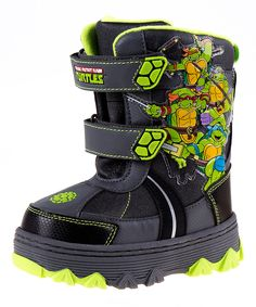 Look what I found on #zulily! Black & Green TMNT Snow Boot by Josmo #zulilyfinds
