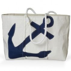 Sea Bags Large Navy Anchor Tote - Made from Recycled Sails | The New England Trading Company