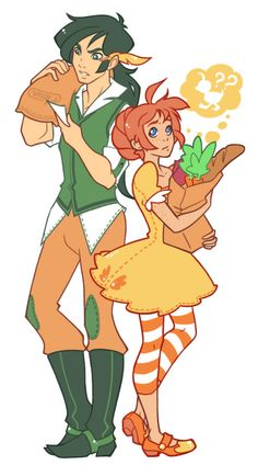 Duck and Fakir and their grocery shopping with food My Little Monster, Little Monsters, Princess Tutu Anime, Princesa Tutu, Japanese Animated Movies, Anime Couples Manga, Awesome Anime, Romantic Couples, Magical Girl