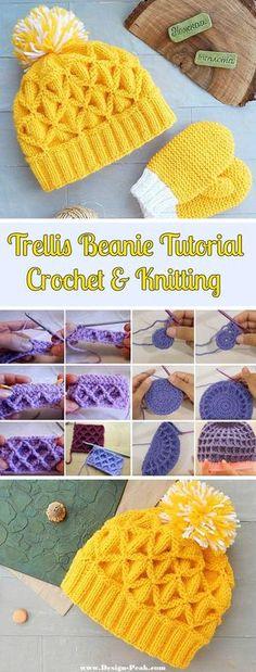 Trellis Beanies – Crochet & Knitting