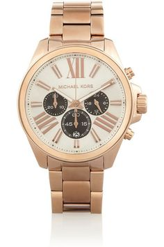 4 Fashion Staples Every Woman Should Own by the Time She's 30 : 3.) An Oversize Watch: I like a menswear-inspired style like this one from Michael Kors, because it can be worn at the office or on the weekend with a T-shirt and jeans.