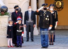Prince Day, Old Prince, Princess Alexandra, Princess Caroline, Grey Overcoat, Prince Albert Of Monaco, Andrea Casiraghi, Prince Rainier, Monaco Royal Family