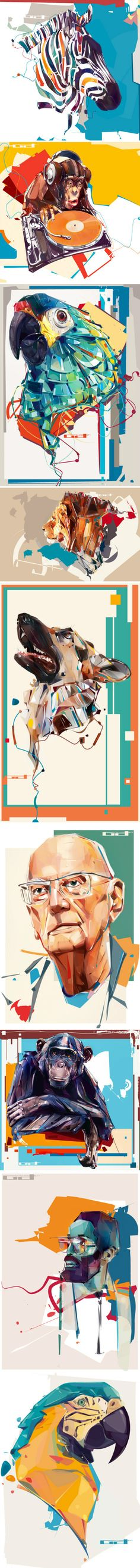 Great illustrations! Love it. #illustration #art ★ Find more at http://www.pinterest.com/competing/