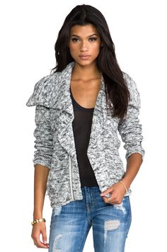 Central Park West Stuyvesant Place Sweater Coat in White from REVOLVEclothing