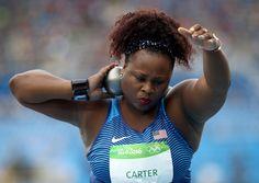 Michelle Carter wins first U S  women's shot put gold medal