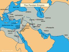 Persian Empire Bible Map Chart (part of this area is what is now Iran, and is where the city of Babylon is...and was)